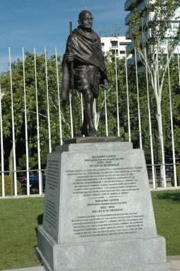 Gandhi en Madrid