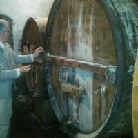 Antonello Rovellotti in the cellars of the Ricetto (March 2012)