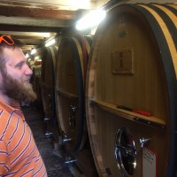 Etienne Portalis admiring his new barrels