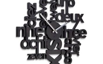Lingua Wall Clock by Umbra