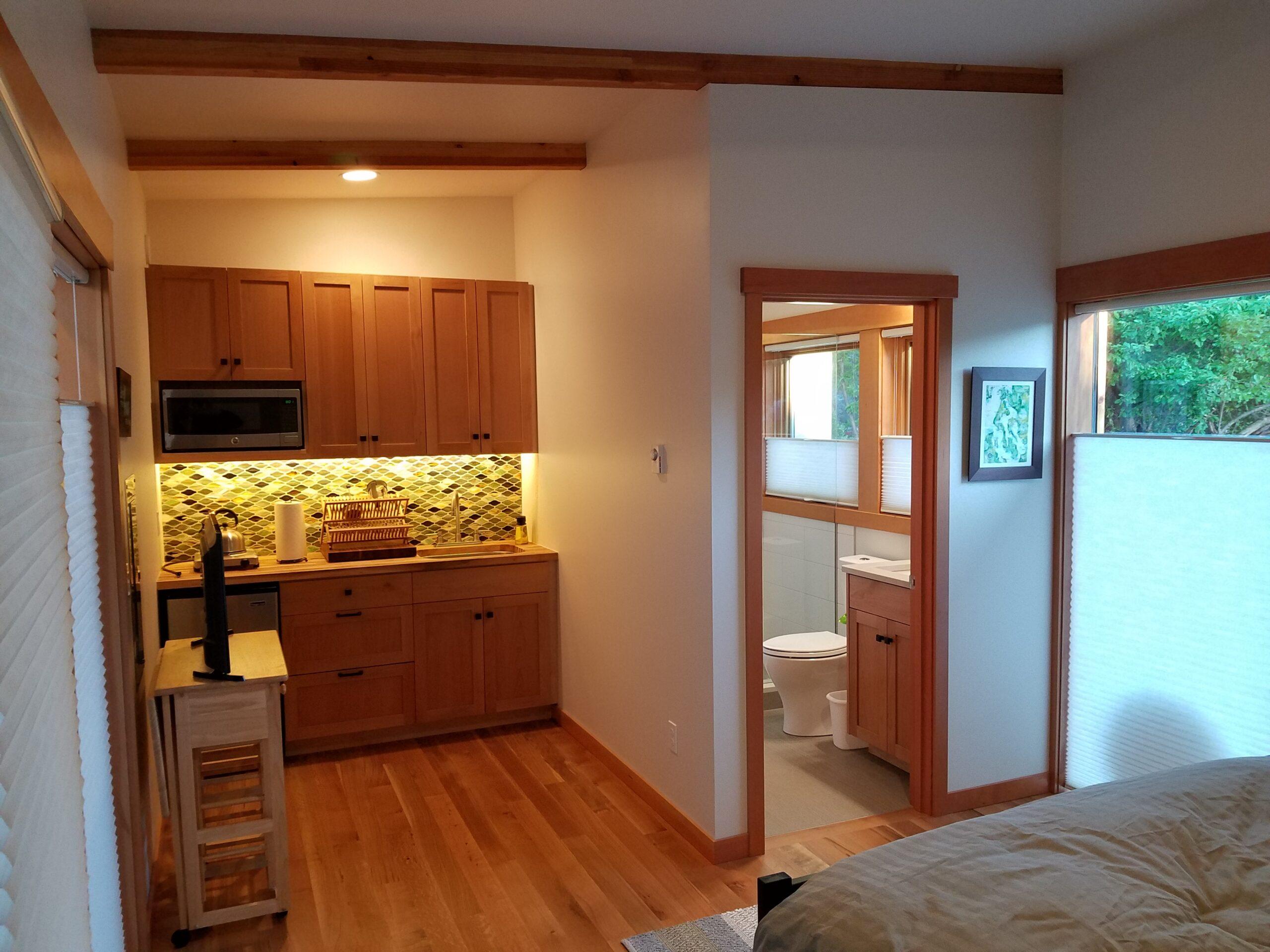 Josh Architecture Whidbey Island casita kitchenette