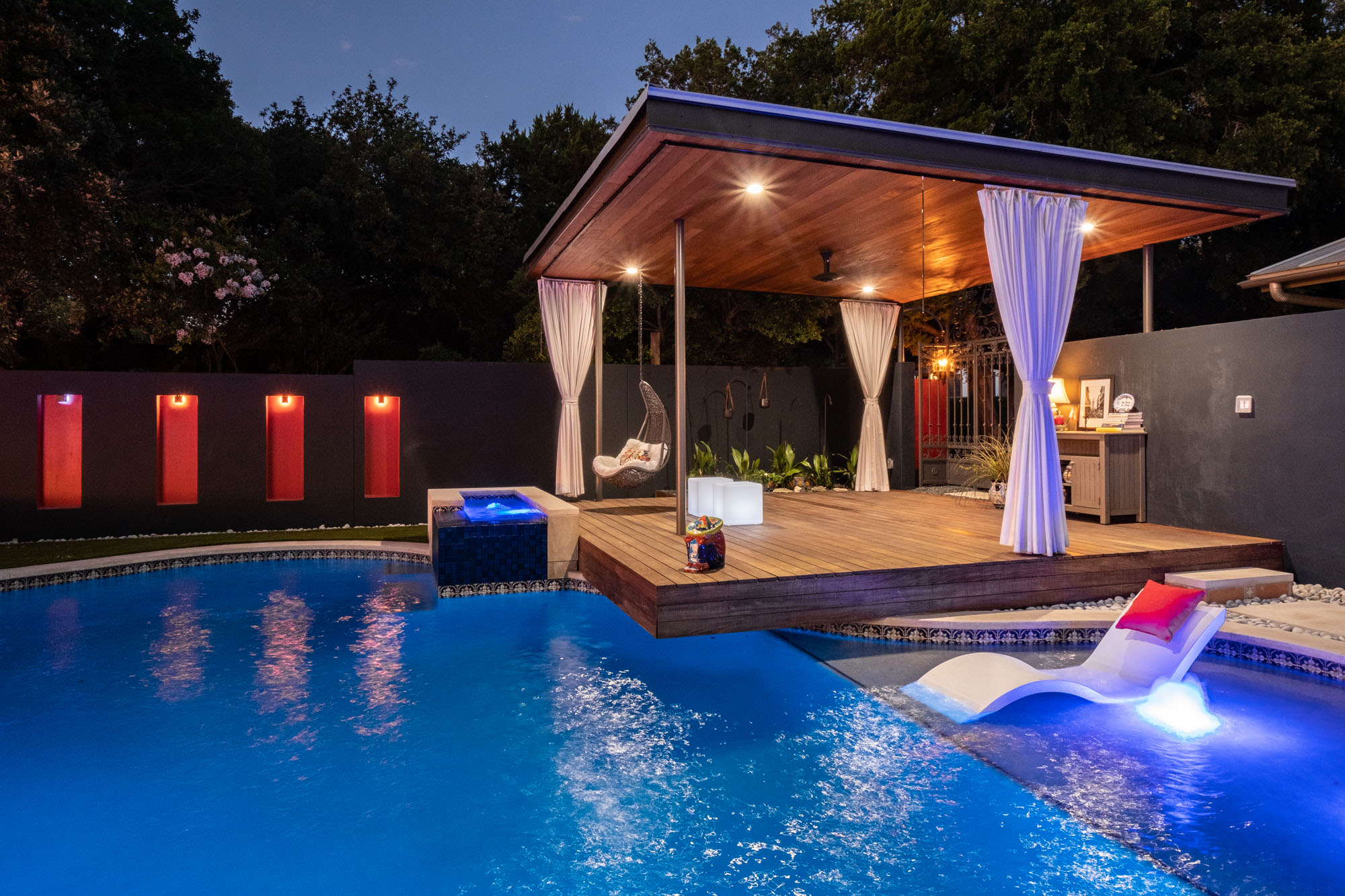 Austin Outdoor Design Cabana and Spanish Gate