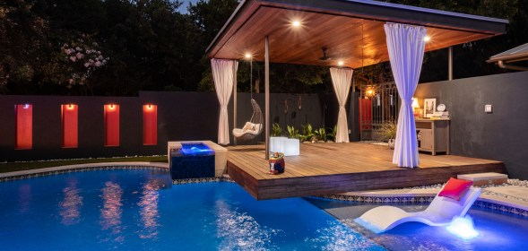 Austin Outdoor Design's Mexican Inspired Outdoor Living Space