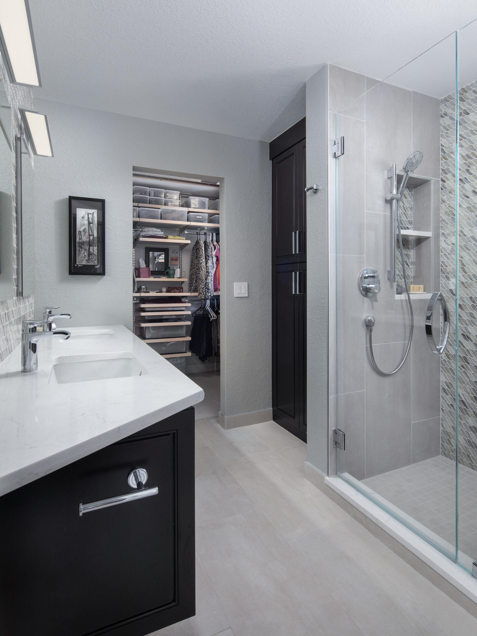 KE Interior Solutions updated master bathroom