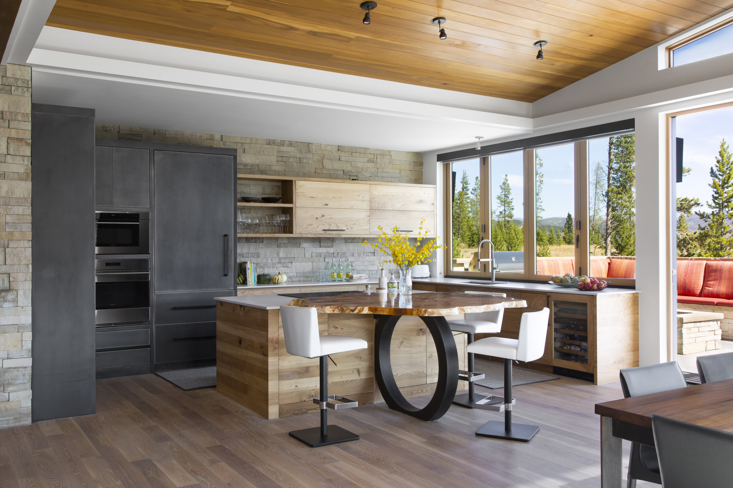 Ewers Architecture modern kitchen opens to the view