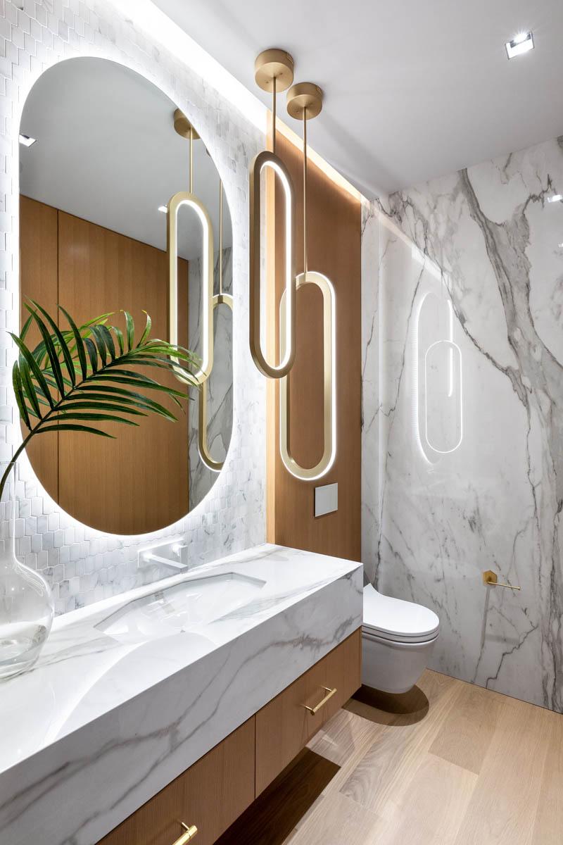 Madeleine Design Group Ocean Bluff Light Powder Room
