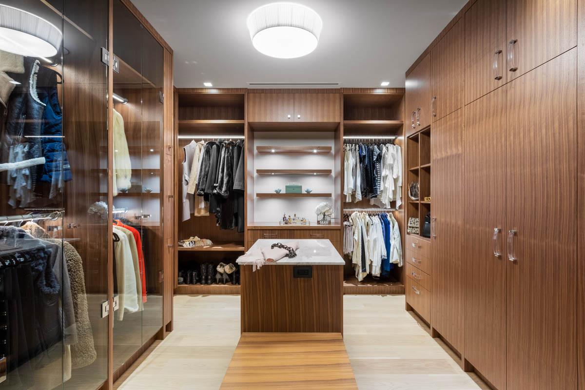 Madeleine Design Group Ocean Master Bedroom Walk-in Closet