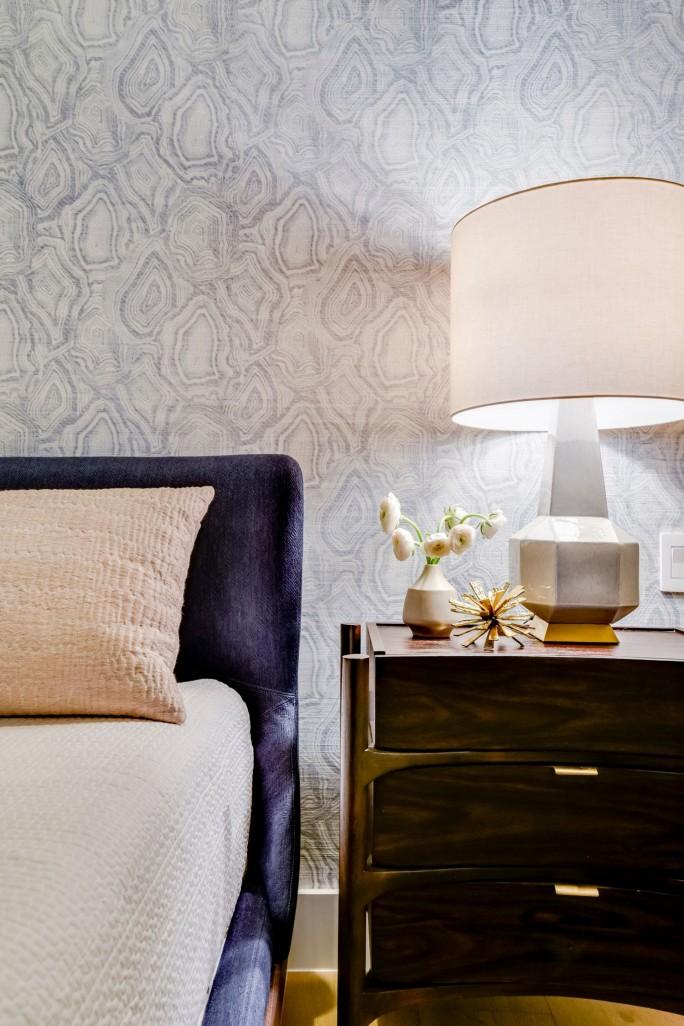 Britt Design Group master bed wall detail
