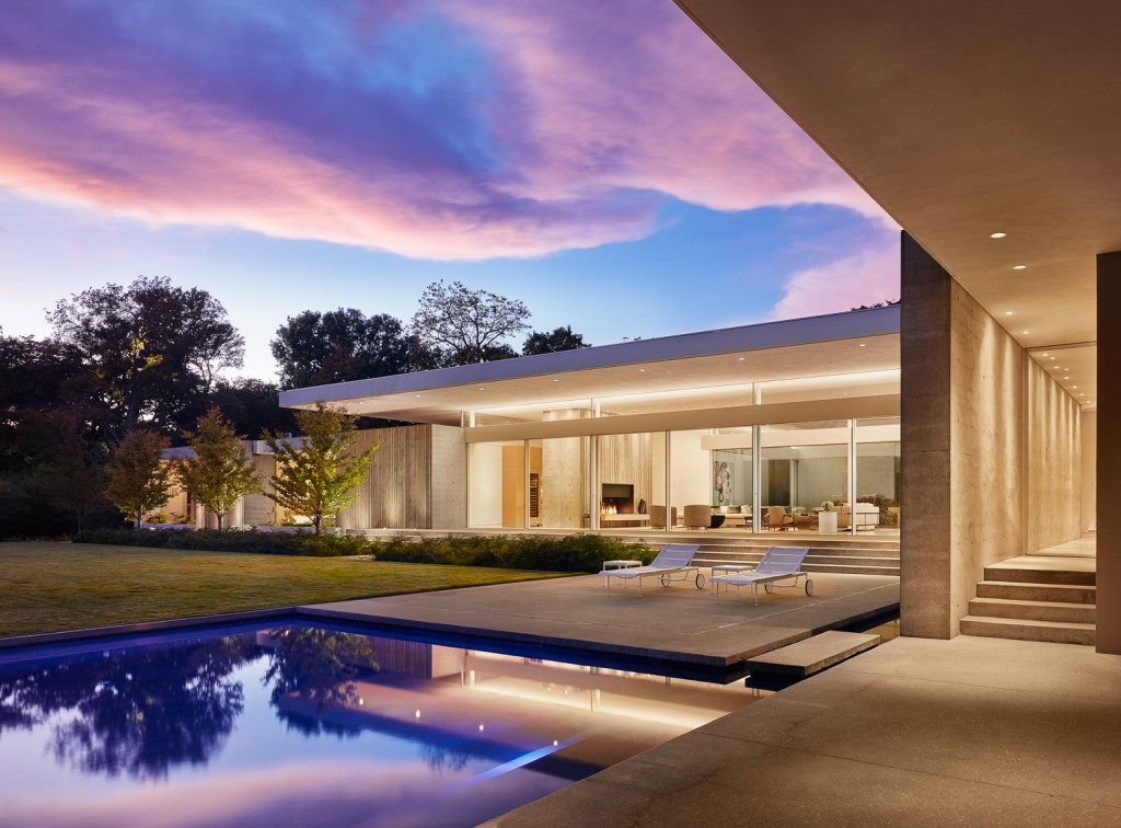 Specht Architects Backyard at Dusk