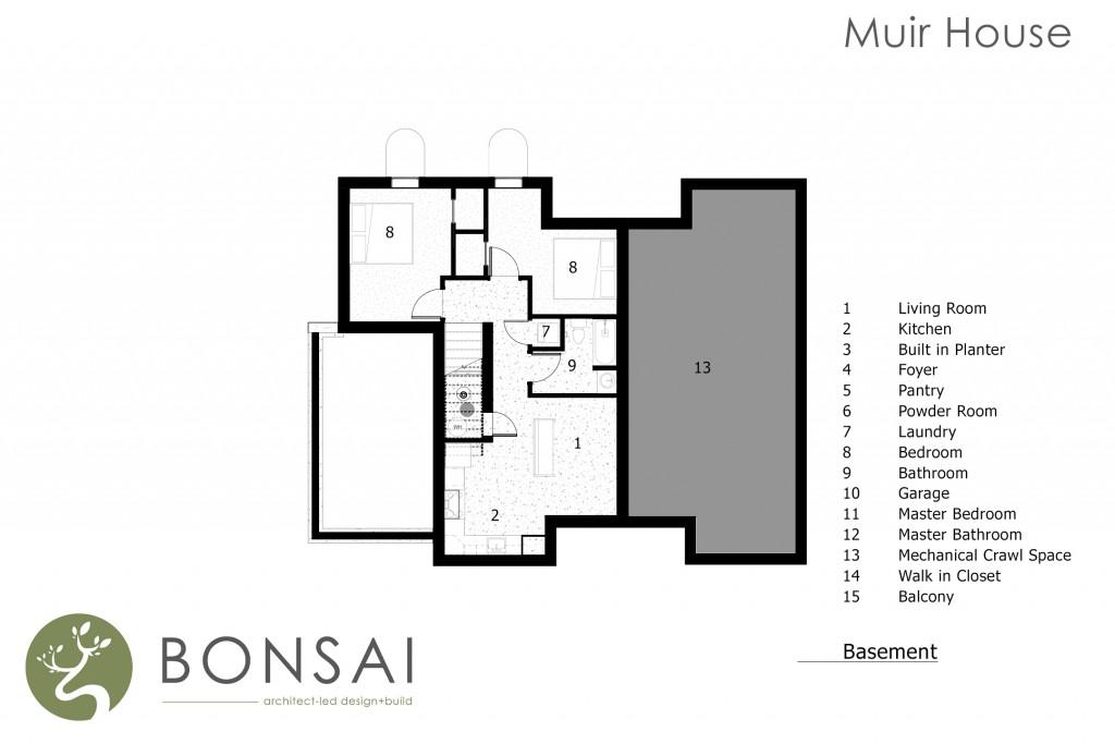 Bonsai Architect-led Design+Build Floorplan basement