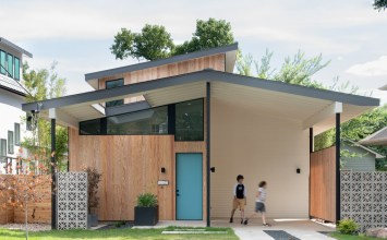 Matt Fajkus Architecture's Split House in Austin TX