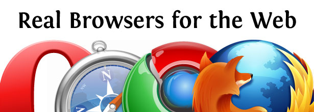 Real Browsers for the Web