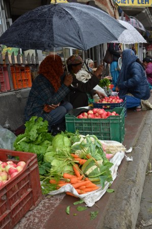 Street-side vegetable market