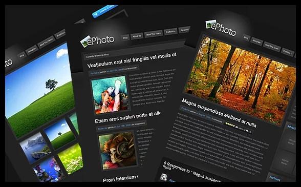 ePhoto WordPress Theme – Premium WordPress Theme for 7/03