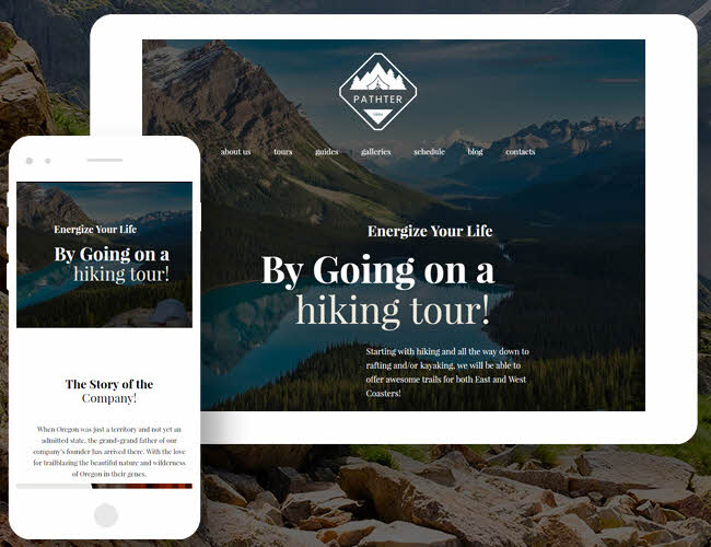 Hiking Trips & Camping Tours WordPress Theme