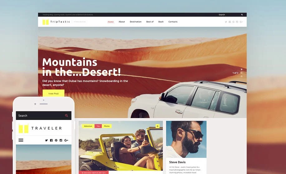 10 Best Travel Blog WordPress Themes 2017 from TemplateMonster