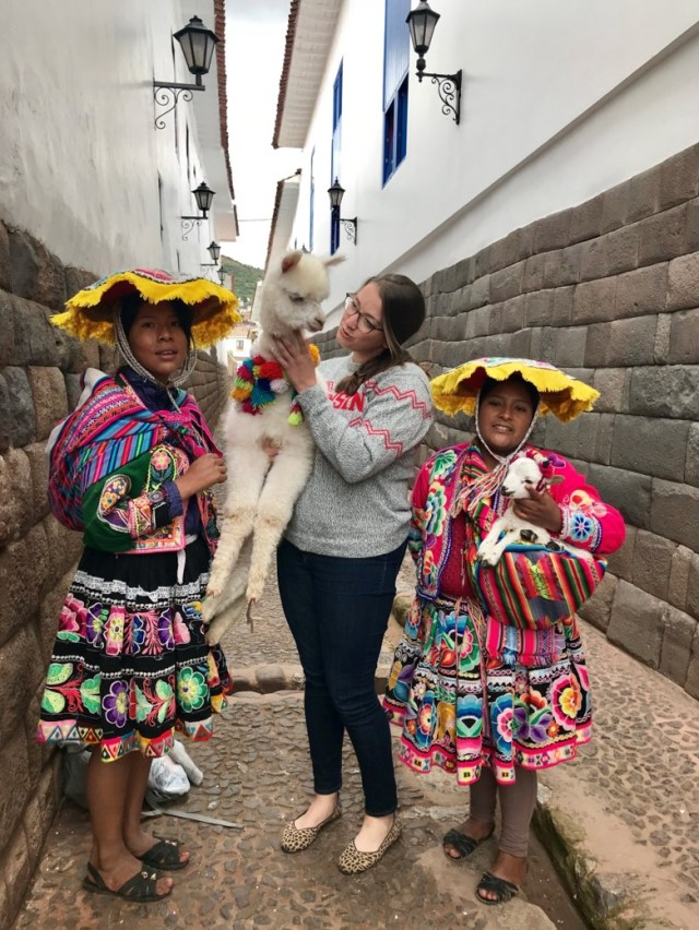 Artisans in Peru with owner of Campo Alpaca, Katie Lorenz