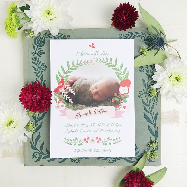 Holiday Birth Announcement from Basic Invite