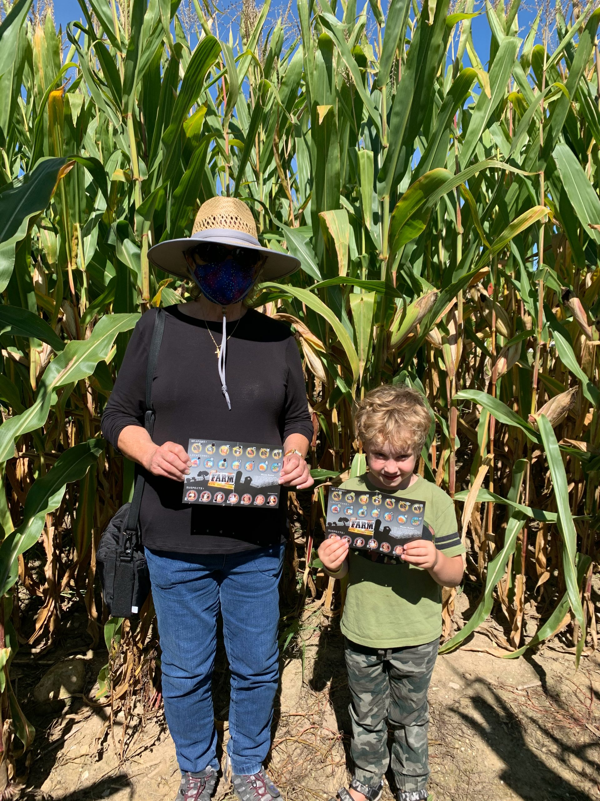 Completed punch card at Corn Maze at Basse's