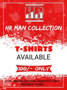 HR Man Collections - T SHIRTS Rs. 100 ONLY !