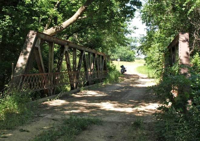 Dirt-covered bridge off OK-72 near Haskell.