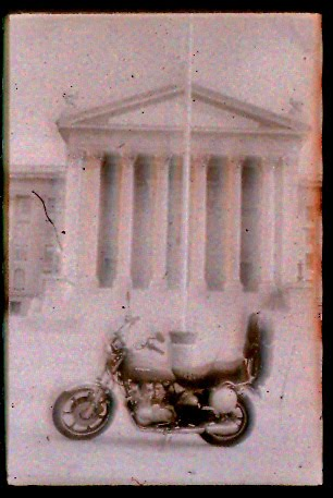 KZ650-SR in front of the Oklahoma capitol.