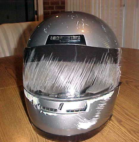 Full Face Helmet with Road Rash