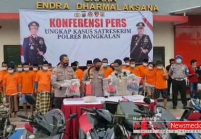 Selama Kurun Waktu 1 Bulan Polres Bangkalan Berhasil Ungkap 16 Kasus Kriminal