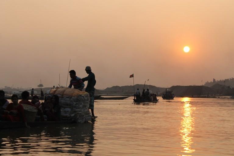 Sun sets on Jaflong.