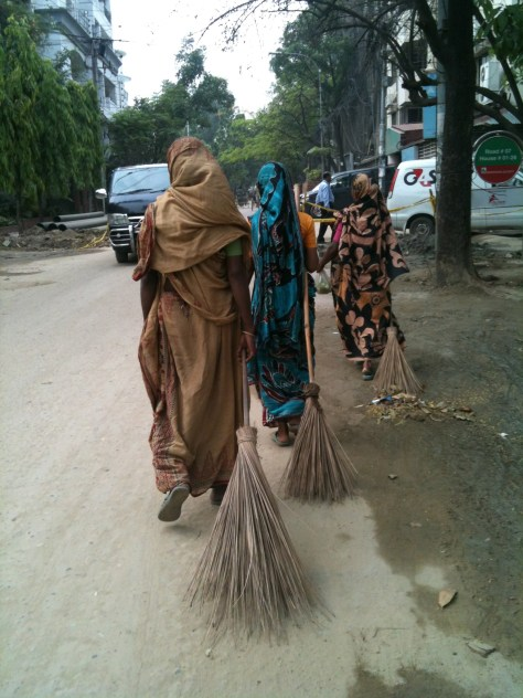 Street sweepers.