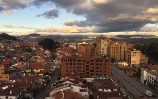 The view of Cuenca, Ecuador from my mother's balcony