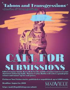 Call for Submissions for the Taboos and Transgressions Anthology