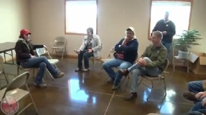 Kristi Noem, farm meeting, Aurora, SD, 2013.10.24—screen cap from KELO-TV