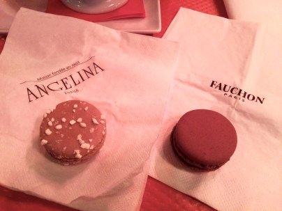 Mont-Blanc from Angelina, chocolat noir from Fauchon!