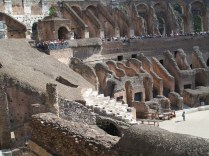 The white steps have remained since the Colosseum of Ancient Rome.