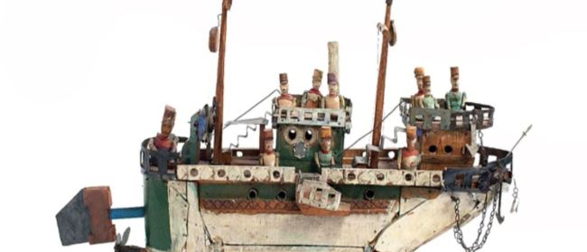 Picture of a boat with soldiers on it