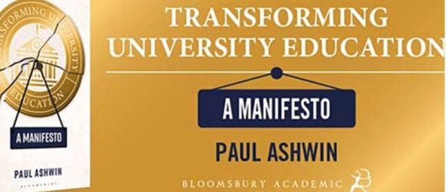 cover of transforming university education a manifesto by Paul Ashwin