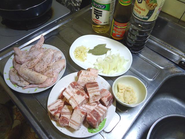 フィリピン料理アドボ材料