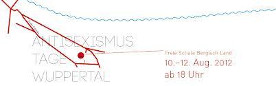 Logo der Antisexismustage Wuppertal - rote und blaue Linien auf weißem Hintergrund