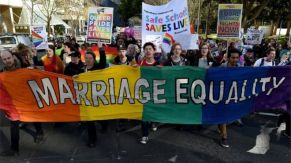 Rainbow flag for marriage equality