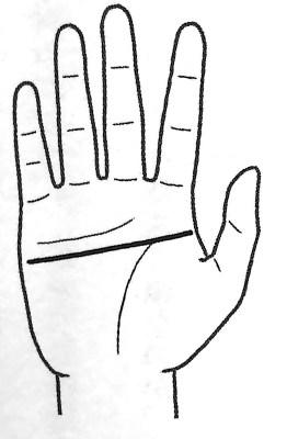 図1 頭脳線のパターン① 手だけで本性がわかる 第1章