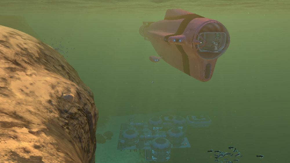 Subnautica: My Base by the Precursor Gun 1