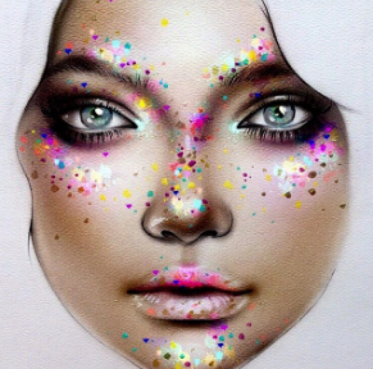 Face Chart by Milk1422 on Instagram