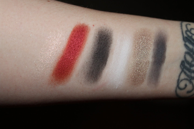 From left to right: Lovestruck (iridescent peach), Swoon (metallic scarlet), Devotion (matte jet black),Por Vida (matte white), Darling (metallic pewter), and Yours (matte stone gray).