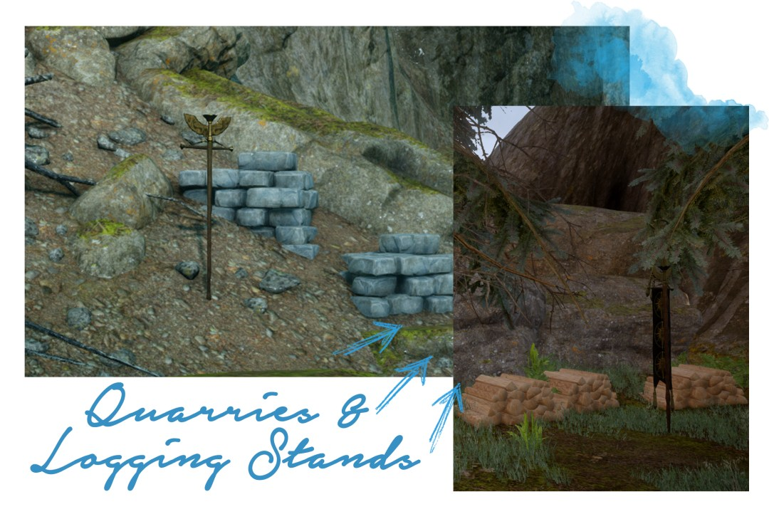 Dragon Age Inquisition: Where are Quarries & Logging Stands?