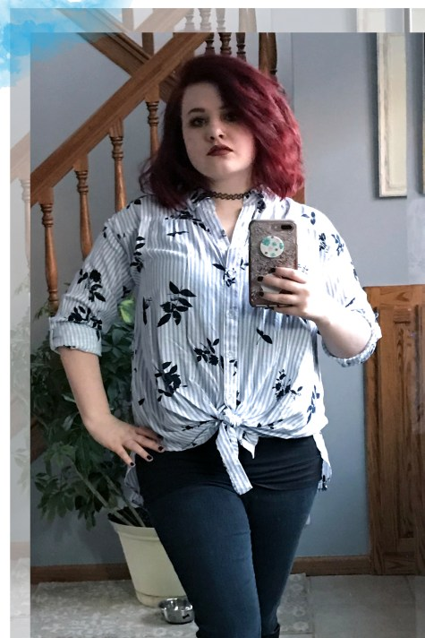Stripes and Floral OOTD 3