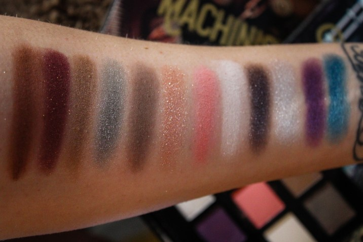 NYX Machinist Steam Swatches