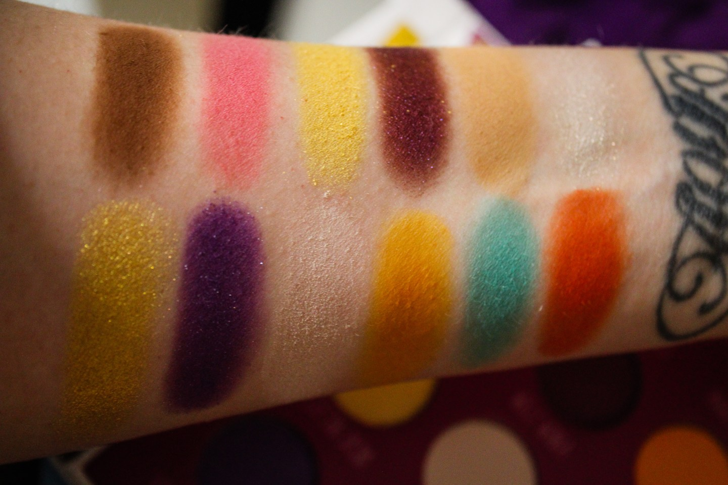 Storybook Cosmetics Charlie and the Chocolate Factory Swatches.jpg