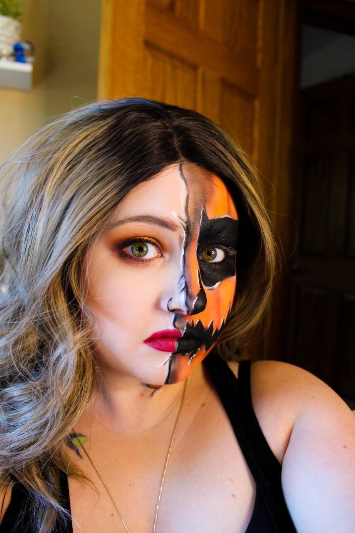 Mae Polzine Pumpkin Makeup Look 1