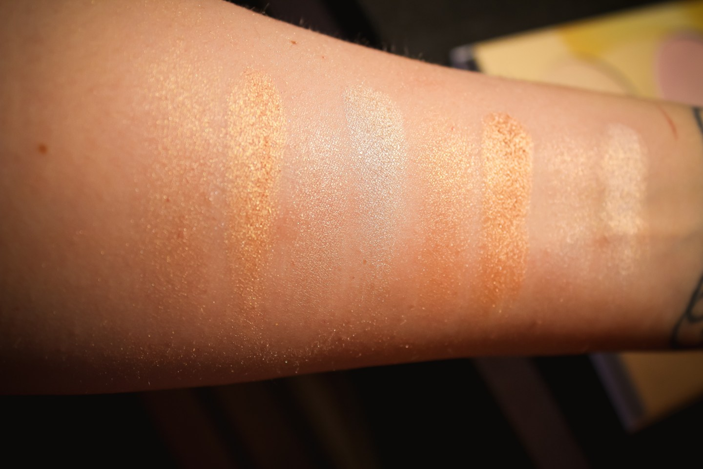 Beauty Bakerie Milk and Honey Palette Swatches